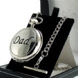 DAD Pocket Watch,  Skeleton Mechanical, PERSONALISED ref PWDAD